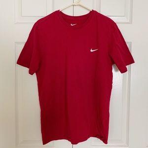 Nike Red Athletic Cut Short Sleeve Tee Large